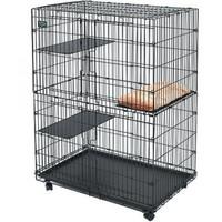 Фотография товара Клетка для кошек Midwest Cat PlayPens, 17 кг, размер 89.5 х 59 х 120.6см., черный