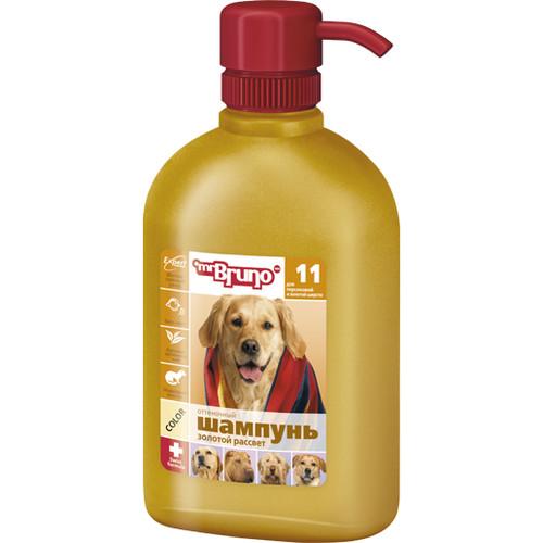 Шампунь-кондиционер для золотистых и персиковых окрасов собак Mr. Bruno Золотой рассвет, 350 мл