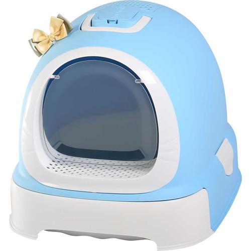 Туалет-бокс для кошек N1 Мак 101, размер 55х42х43см., голубой