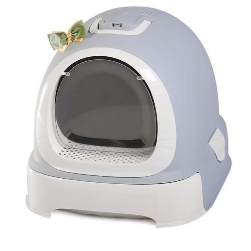 Туалет-бокс для кошек N1 Мак 100, размер 55х42х43см., серый