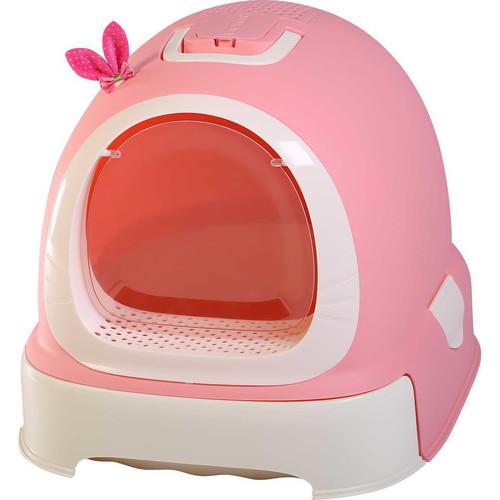 Туалет-бокс для кошек N1 Мак 103, размер 55х42х43см., розовый