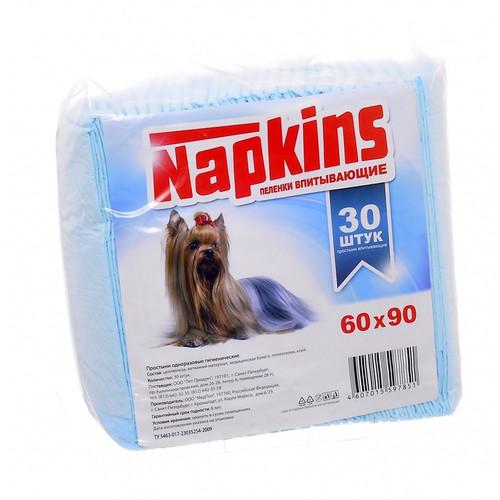 Пеленки для собак Napkins, размер 60х90см., 30 шт.