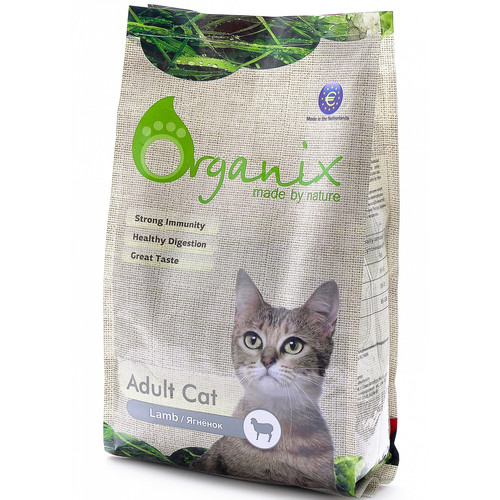 Корм для кошек Organix Adult Cat Lamb, 7.5 кг, ягненок