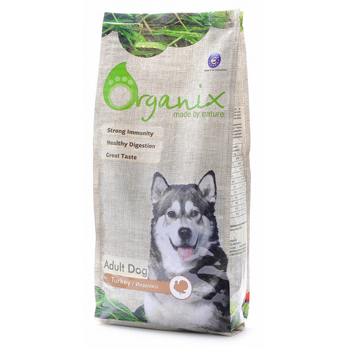 Корм для собак Organix Adult Dog Turkey, 2.5 кг, индейка