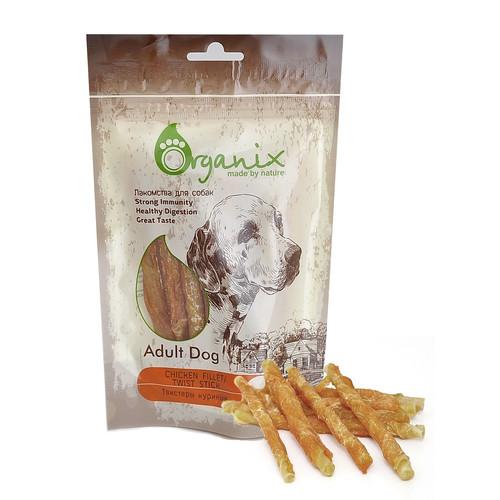 Лакомство для собак Organix Chicken fillet/ twist stick
