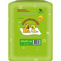 Фотография товара Пеленки для животных Пелигрин Доброзверики Super, размер 60х40см., 12 шт.