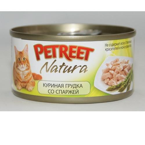 Корм для кошек Petreet, 85 г, куриная грудка со спаржей