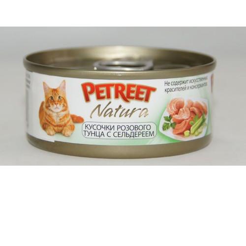 Корм для кошек Petreet, 85 г, тунец с сельдереем