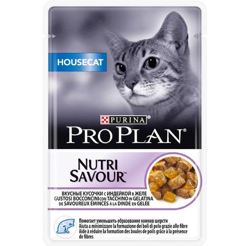 Корм для кошек Pro Plan Nutrisavour Housecat, 85 г, индейка
