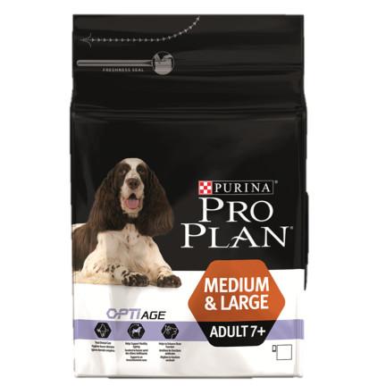 Корм для собак Pro Plan Adult 7+ Medium&Large, 3 кг, курица