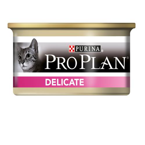 Корм для кошек Pro Plan Delicate, 85 г, индейка