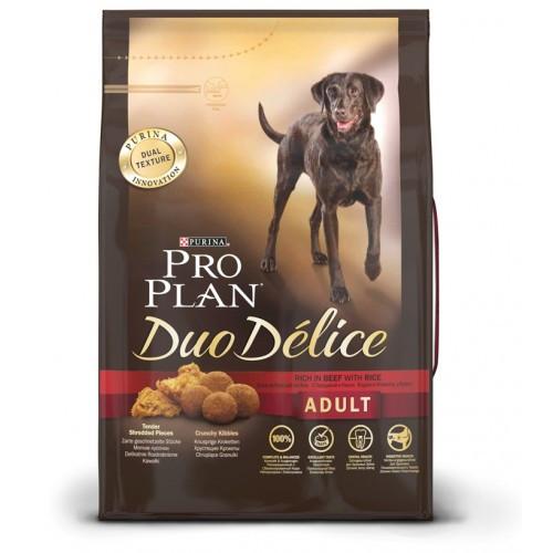 Корм для собак Pro Plan Duo Delice, 2.5 кг, говядина и рис