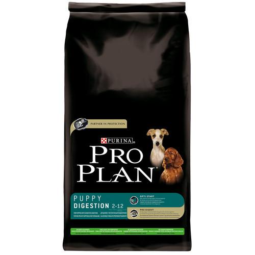 Корм для щенков Pro Plan Puppy Digestion, 14 кг, ягненок с рисом