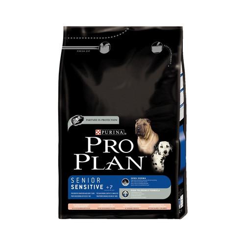 Корм для собак Pro Plan Senior 7+ Sensitive, 14 кг, лосось и рис