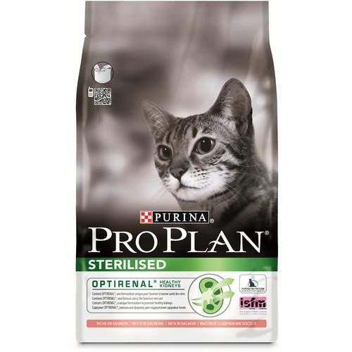 Корм для кошек Pro Plan Sterilised, 3 кг, лосось