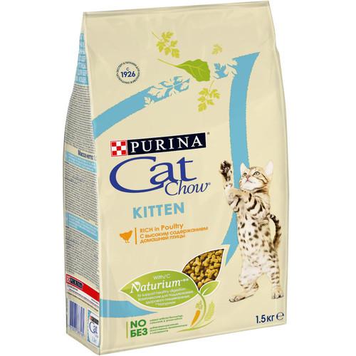 Корм для котят Purina Cat Chow Kitten, 1.5 кг, домашняя птица