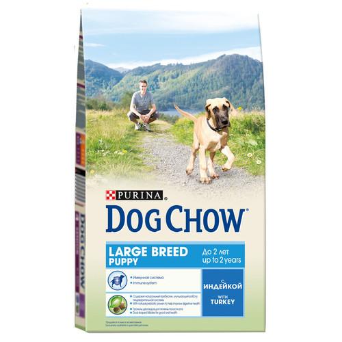 Сухой корм для щенков Purina Dog Chow Puppy Large Breed, 2.5 кг, индейка