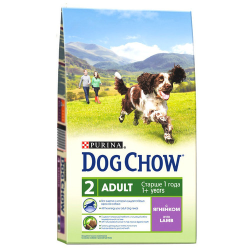 Сухой корм для собак Purina Dog Chow Adult, 800 г, ягненок