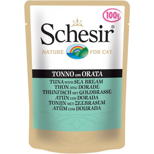Корм для кошек Schesir, 100 г, тунец, дорадо