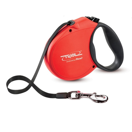 Поводок-рулетка для собак Triol by Flexi Standard Soft Red S, красный