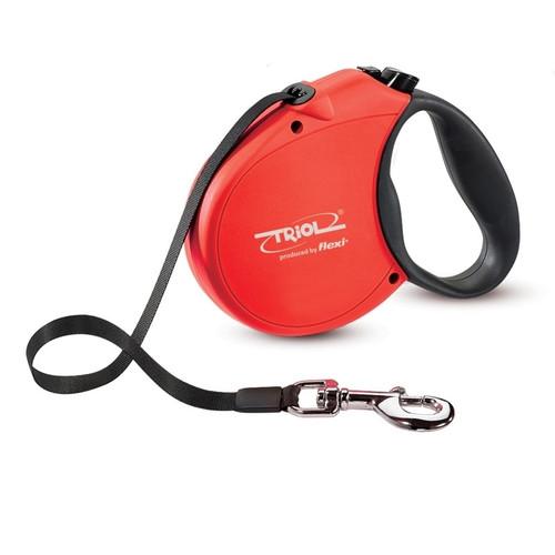 Поводок-рулетка для собак Triol by Flexi Standard Soft Red L, красный