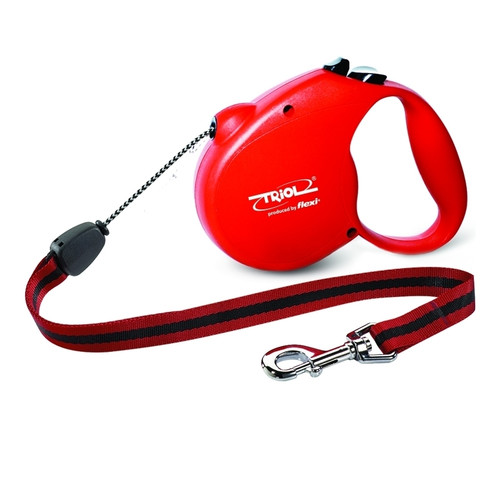 Поводок-рулетка для собак Triol Standard Red L, красный