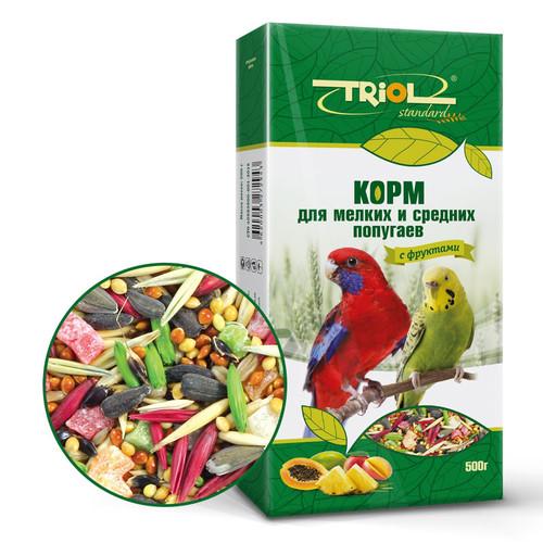 Корм для попугаев Triol, 500 г, с фруктами