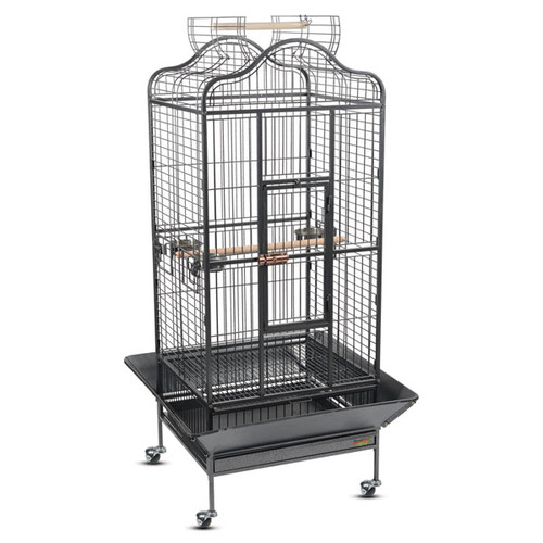 Клетка для птиц Triol, размер 82х77х156см., черный