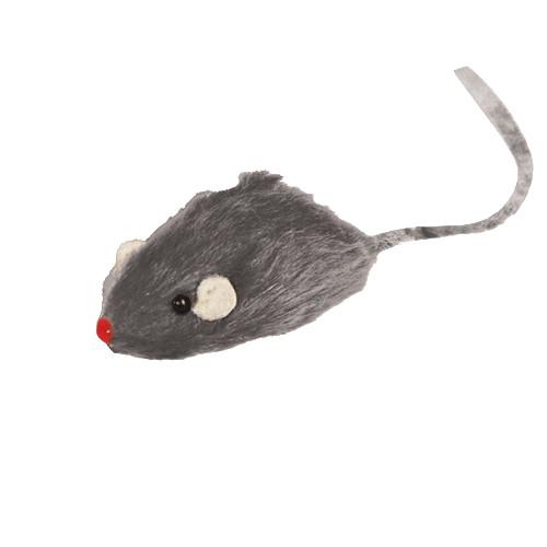 Игрушка для кошек Triol Мышь серая, размер 5см.