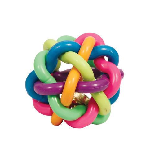 Игрушка для собак Triol Мяч-лабиринт с колокольчиком, размер 9.5см.