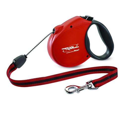 Поводок-рулетка для собак Triol by Flexi Standard Soft Red M, красный