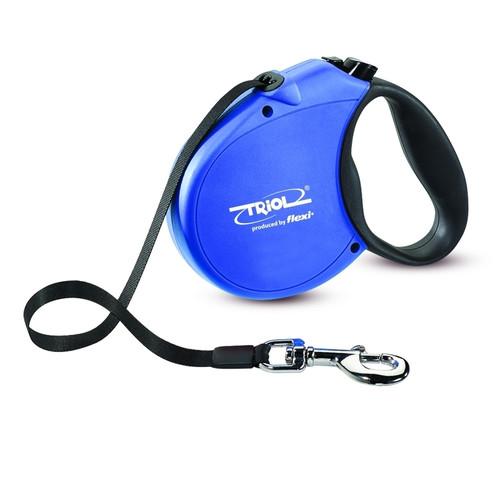 Поводок-рулетка для собак Triol by Flexi Standard Soft Blue S, синий