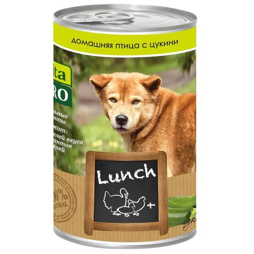 Корм для собак Vita Pro Lunch, 400 г, домашняя птица, цукини