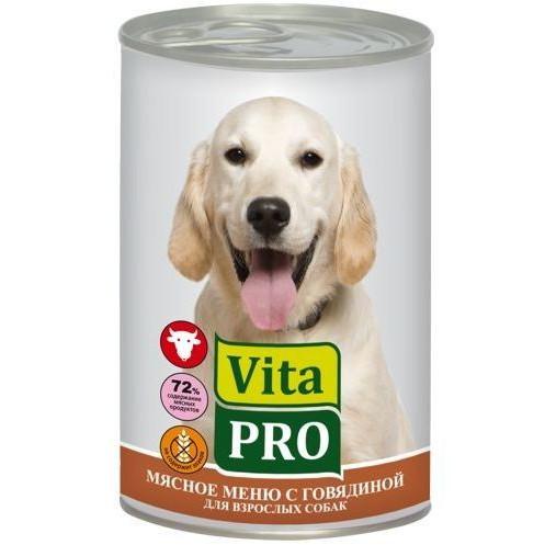 Корм для собак Vita Pro, 400 г, говядина