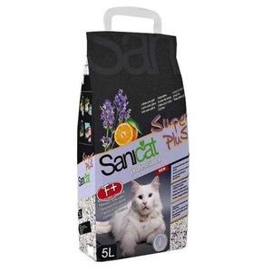 Наполнитель для кошачьего туалета Sanicat, 6.25 кг, 10 л, лаванда и апельсин