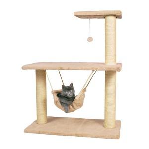 Когтеточка с полками для кошек Trixie Morella, размер 75x40x96см., бежевый